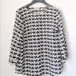 Pixley hummingbird black and white top